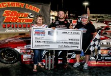 Bobby McCarty wins his first Thunder Road Harley-Davidson 200 at South Boston Speedway.
