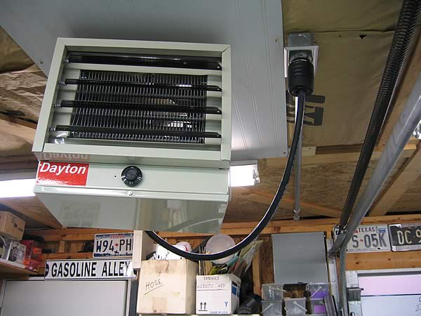 Wiring 240v Garage Heater