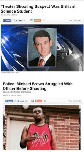 white criminals vs. black criminals
