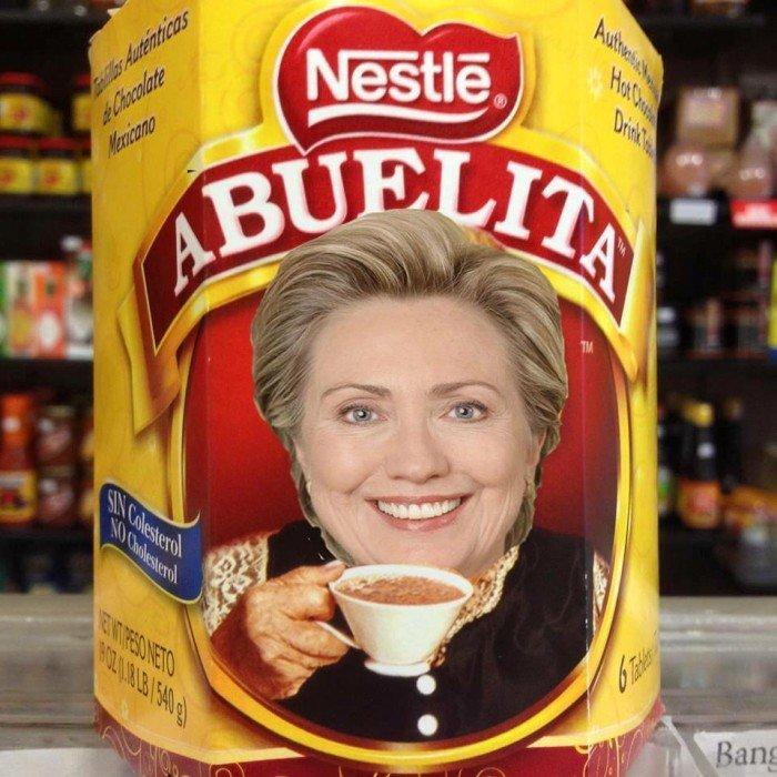 Hillary Clinton Nestle Abuelita
