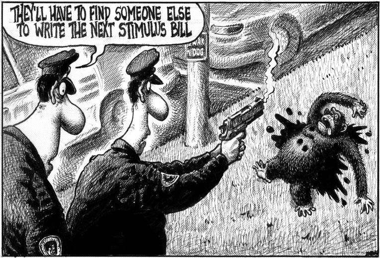 Delonas Post cartoon 2/18/09