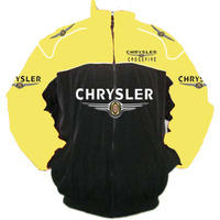 Race Car Jackets Chrysler Crossfire Racing Jacket Yellow