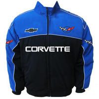 Race Car Jackets Corvette C5 Racing Jacket Royal Blue And