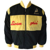 Race Car Jackets Lamborghini Racing Jacket Black And Yellow