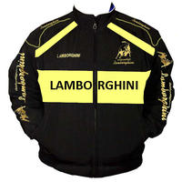 Race Car Jackets Lamborghini Racing Jacket Black And