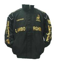 Race Car Jackets Lamborghini Racing Jacket Black