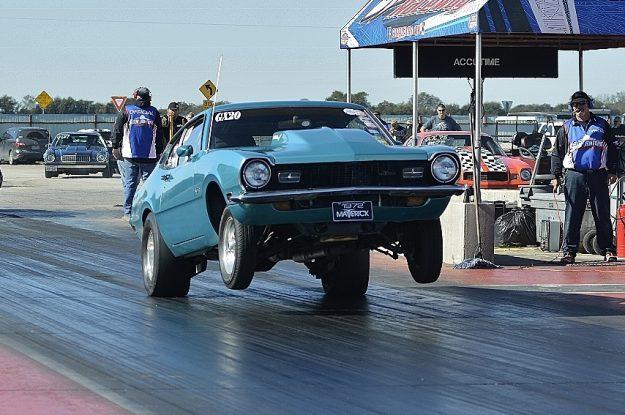 Foot Brake quad-winner Mac Garcia gets the wheels up. Photo by JM Hallas