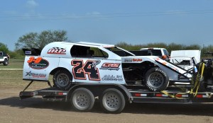 Chris Carroll wins IMCA Modified race Saturday at I-37 Speedway