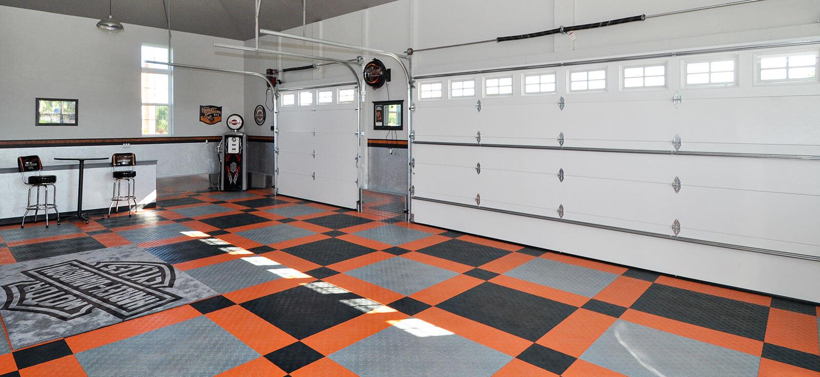 HarleyDavidson garage flooring