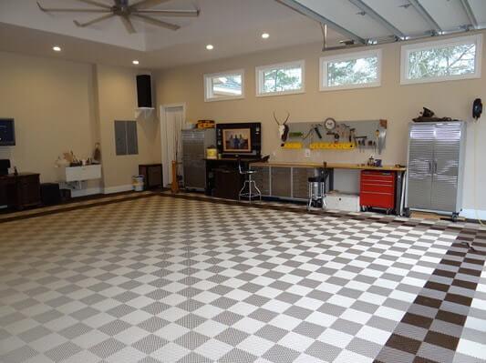 FreeFlow XL  SelfDraining garage flooring  Racing Flooring
