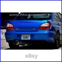 wrx04 07 race exhaust back