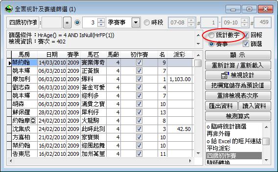March   2010   投注樂 - 賽馬統計分析電腦軟件
