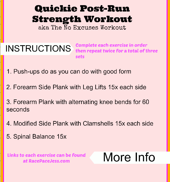 Quickie Post-Run Strength Workout