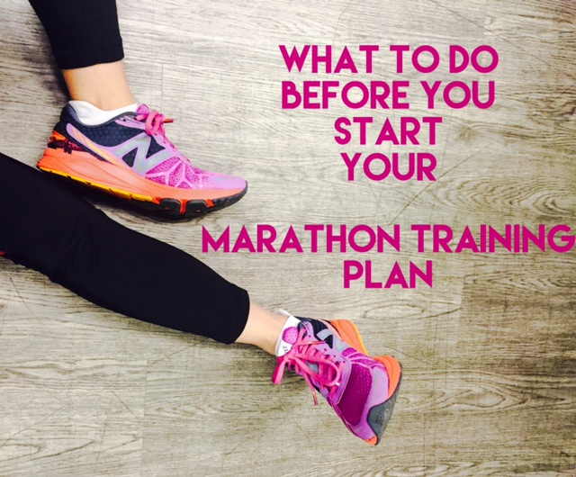 What to do before you start following a marathon training plan
