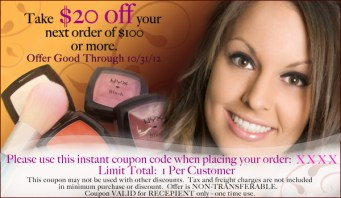 Coupon design for client's website { Nonpareil Boutique }