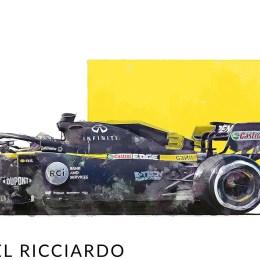Daniel Ricciardo F1 ArtDaniel Ricciardo F1 Art