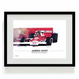 James Hunt F1 Art