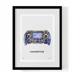 Lewis Hamilton F1 Art - Hammertime F1 Wheel