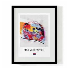 F1 Art - Max Verstappen F1 Helmet