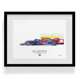 Max Verstappen F1 Art Red Bull Print