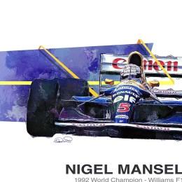 Nigel Mansell Williams F1 Art 1992