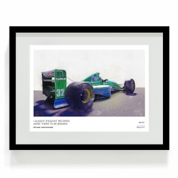 Schumacher Jordan F1 Art