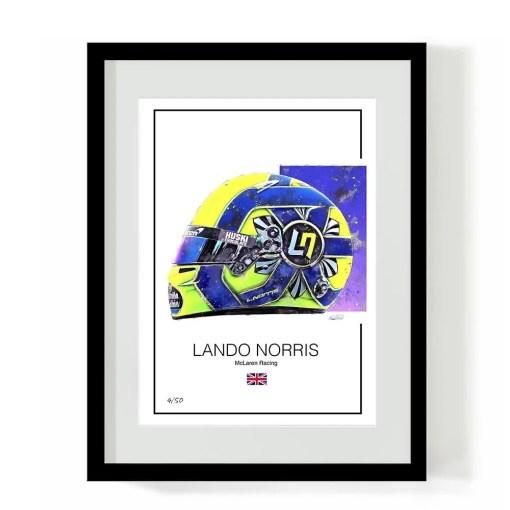 Lando Norris 2020 Helmet f1 Art