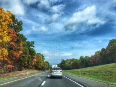 Driving up to Titusville, PA