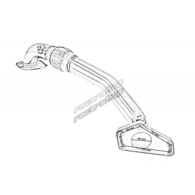 Stainless steel exhaust manifold SUBARU Impreza 95-01 GC8