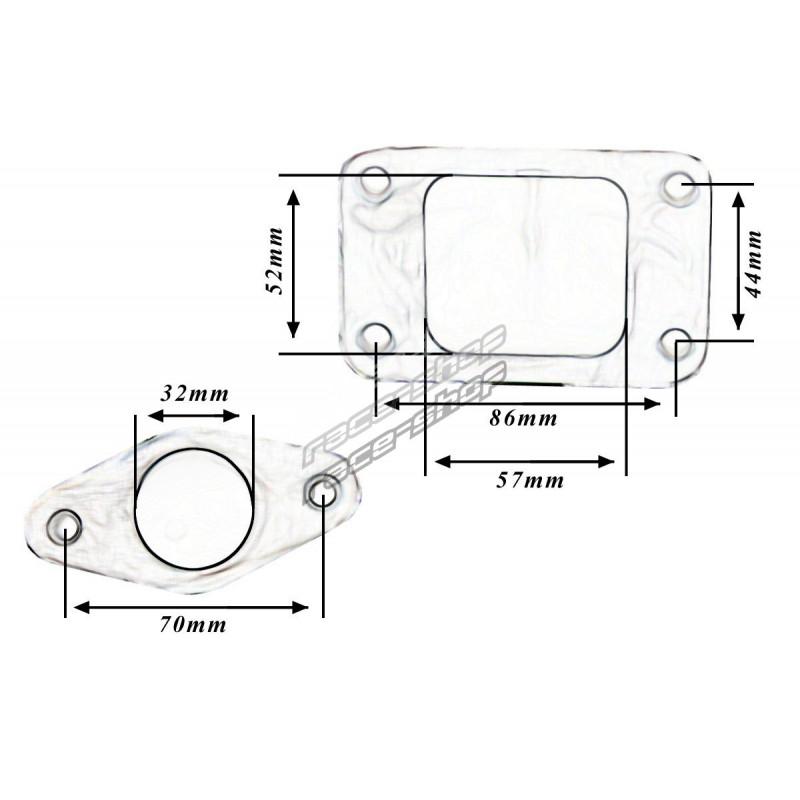 external wastegate diagram kymco agility 50 4t wiring cast iron manifold honda civic d series turbo exhaust seria races