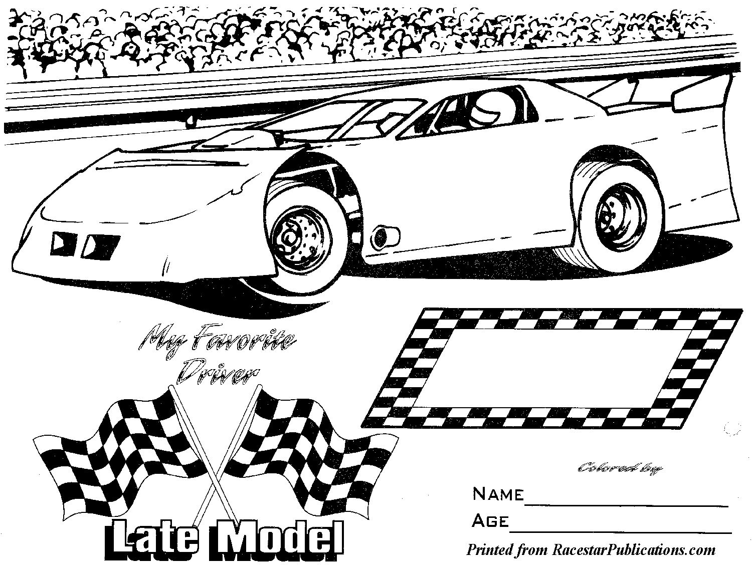 Dirt Late Model Coloring Pages Sanfranciscolife