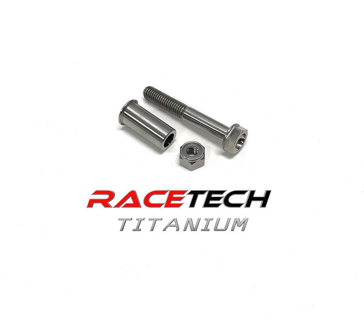 Titanium Clutch Lever Pivot Bolt, Nut & Spacer (2006-19