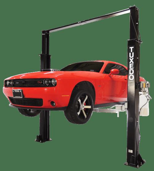 small resolution of tuxedo 9 000 lb capacity overhead 2 post lift asymmetric race tp9kac tux dodge challenger