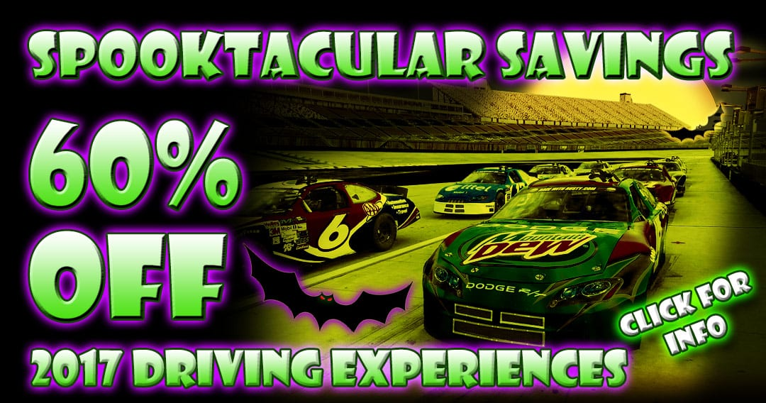 Spooktacular Savings – 60% OFF Driving Experiences On All 2017 Tracks & Dates