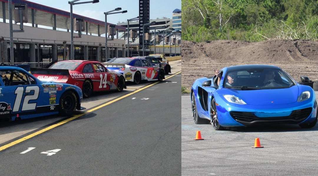 60% OFF Driving Experiences at Charlotte Motor Speedway & Free 3 Lap Exotic Driving Experience in a Mclaren.