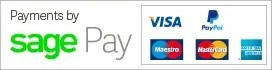 Secure payment by Sagepay, Stripe or Paypal