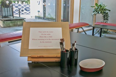 An invitation to create a gestural drawing