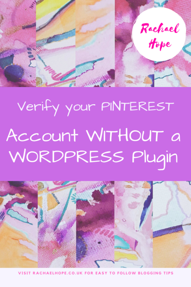 Believe it or not you actually don't NEED a WordPress plug-in to verify your Pinterest account ...
