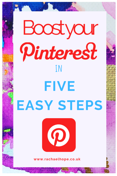 Improve your Pinterest profile in 5 steps with this easy to follow how to guide #bloggingtips #PinterestTraffic #PinterestTips