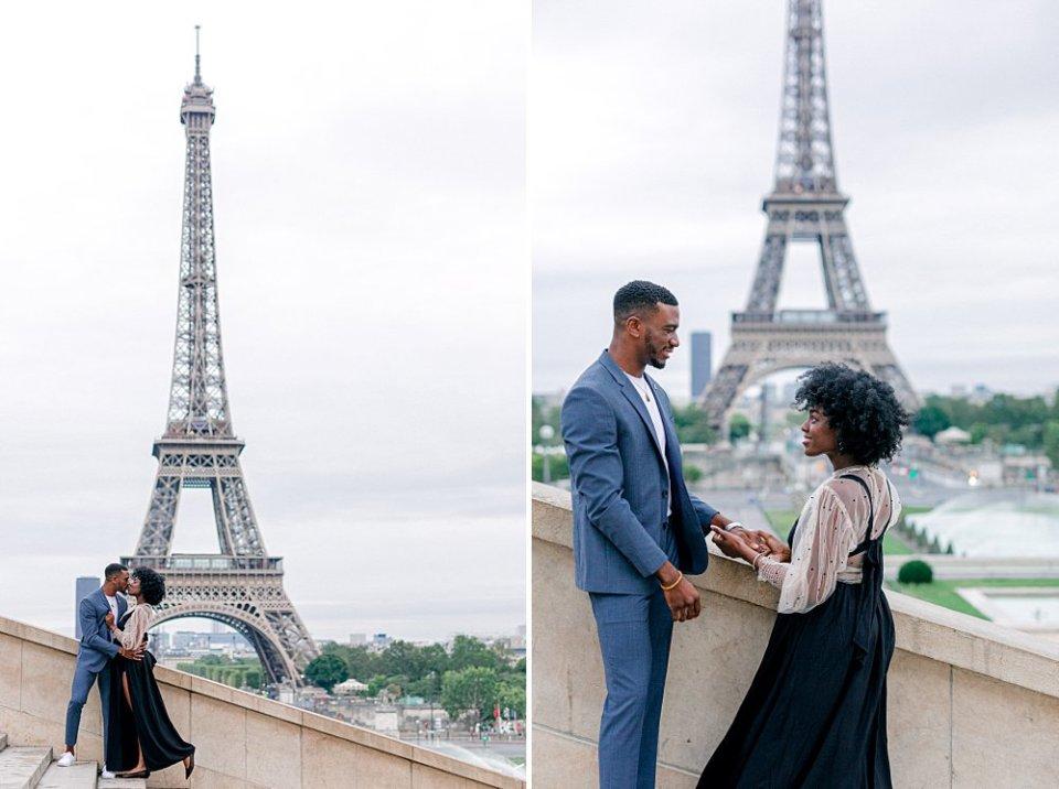 Romantic portraits in Paris, France