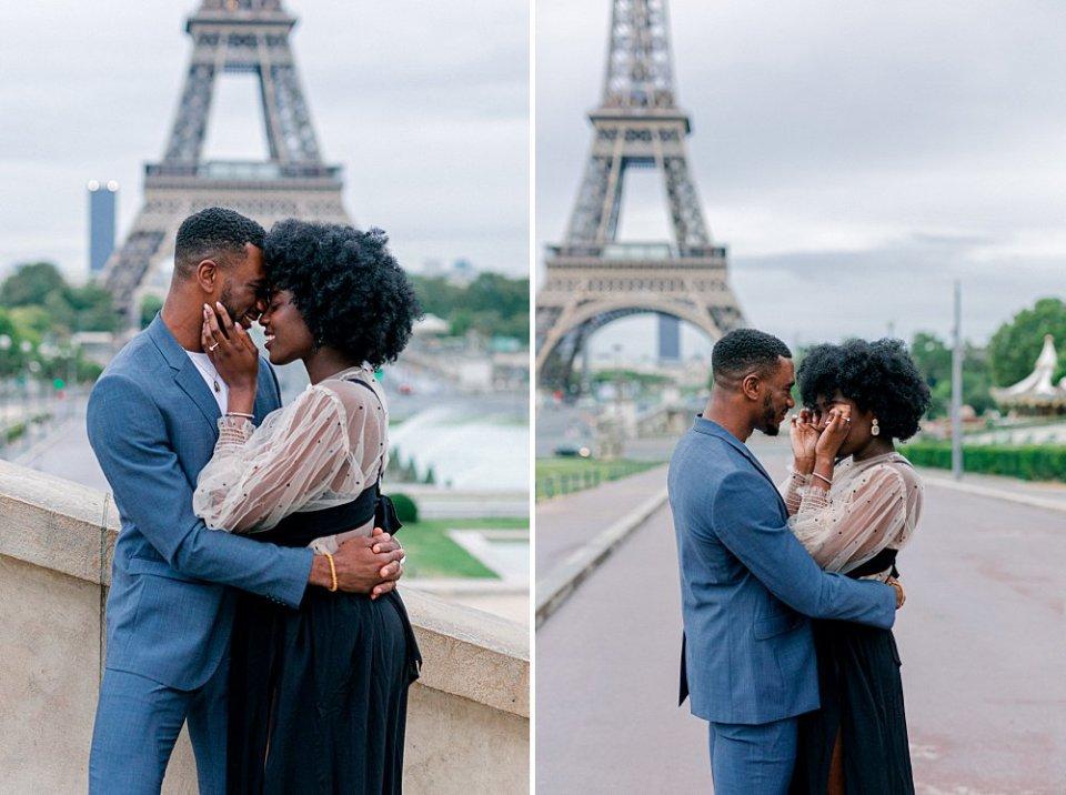 Eiffel Tower proposal photos