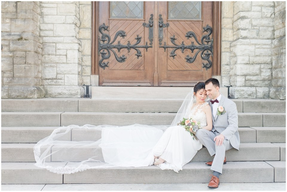 Classy Spring Saint Clare Chapel Cincinnati Wedding by Rachael Leigh Photography