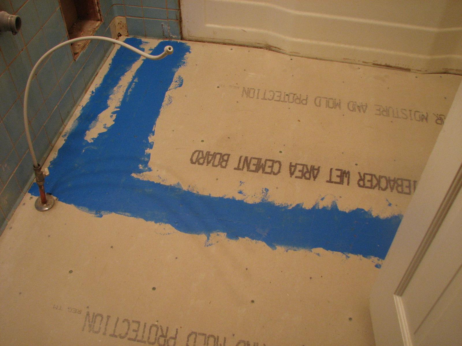 New backer board on floor