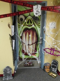 Halloween Door Decoration Contest Winner  RA charlette
