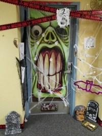 Halloween Door Decoration Contest Winner  RA charlette