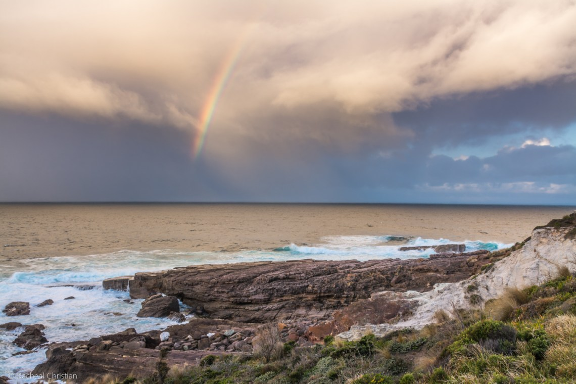 Green Cape Rainbow by Racheal Christian - Photographed at Green Cape Lighthouse in Ben Boyd National Park - rachealchristianphotography.com