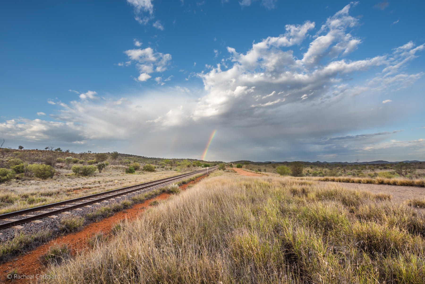 Photo Of The Week: Rainbows Over The Ghan Railway by Racheal Christian