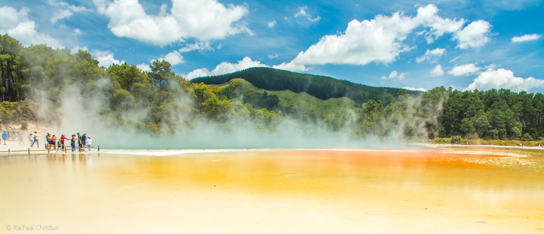Wai-O-Tapu Thermal Wonderland  Rotorua, New Zealand - Champagne Pool by Racheal Christian