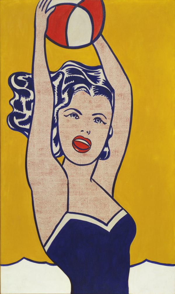 Roy Lichtenstein Girl with Beach Ball