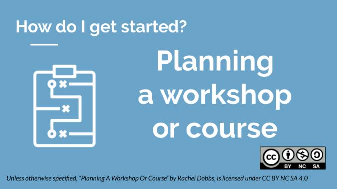 Planning a workshop or course banner image